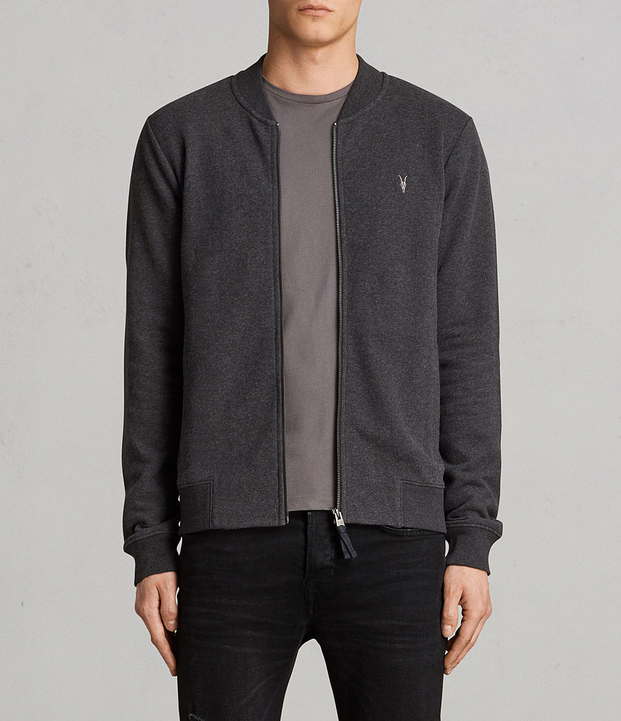 Men's Raven Sweat Bomber Jacket (charcoal_marl) - Image 1
