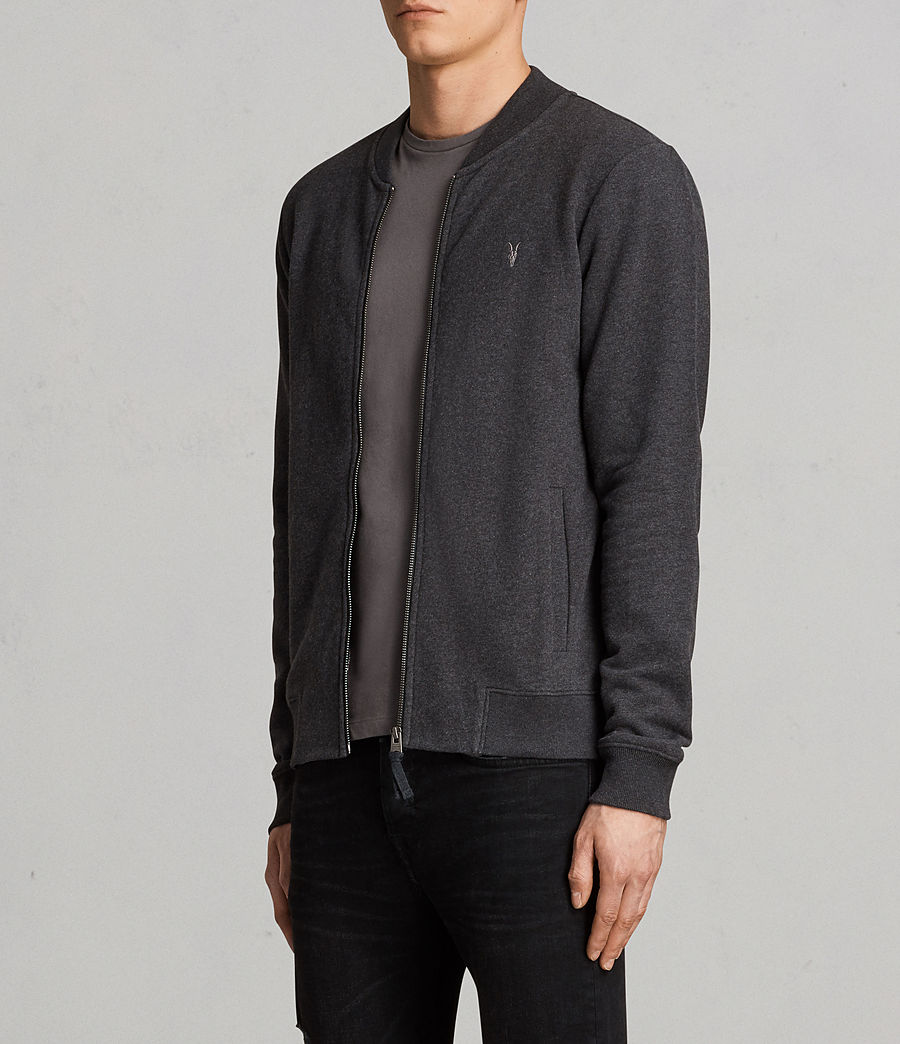 Men's Raven Sweat Bomber Jacket (charcoal_marl) - Image 3