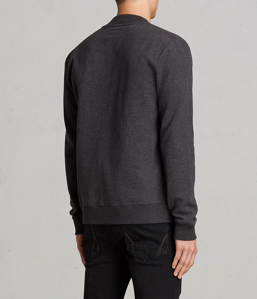 Men's Raven Sweat Bomber Jacket (charcoal_marl) - Image 4