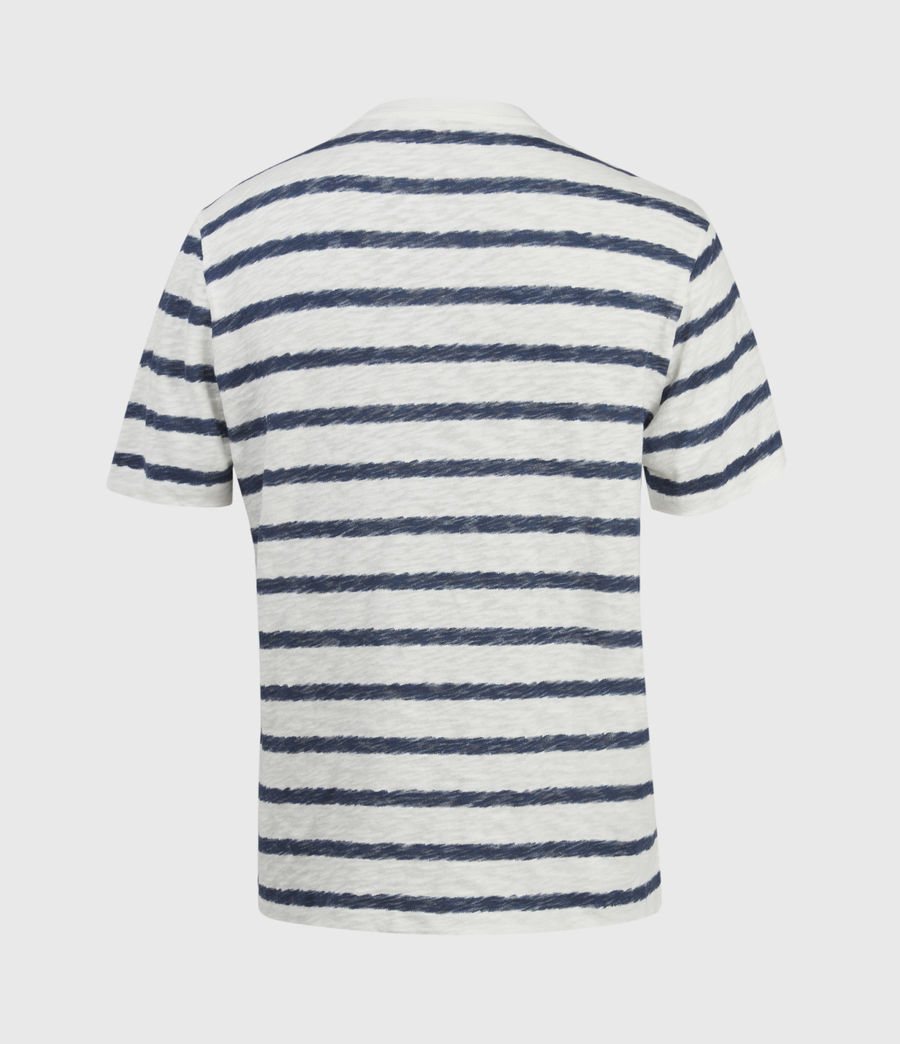 Hombres Rosebowl Crew T-Shirt (chlk_wht_blu_spray) - Image 2