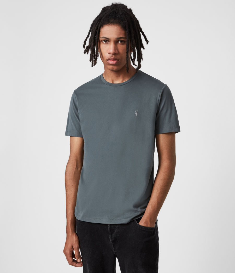 Mens Brace Crew T-Shirt (mercer_green) - Image 1