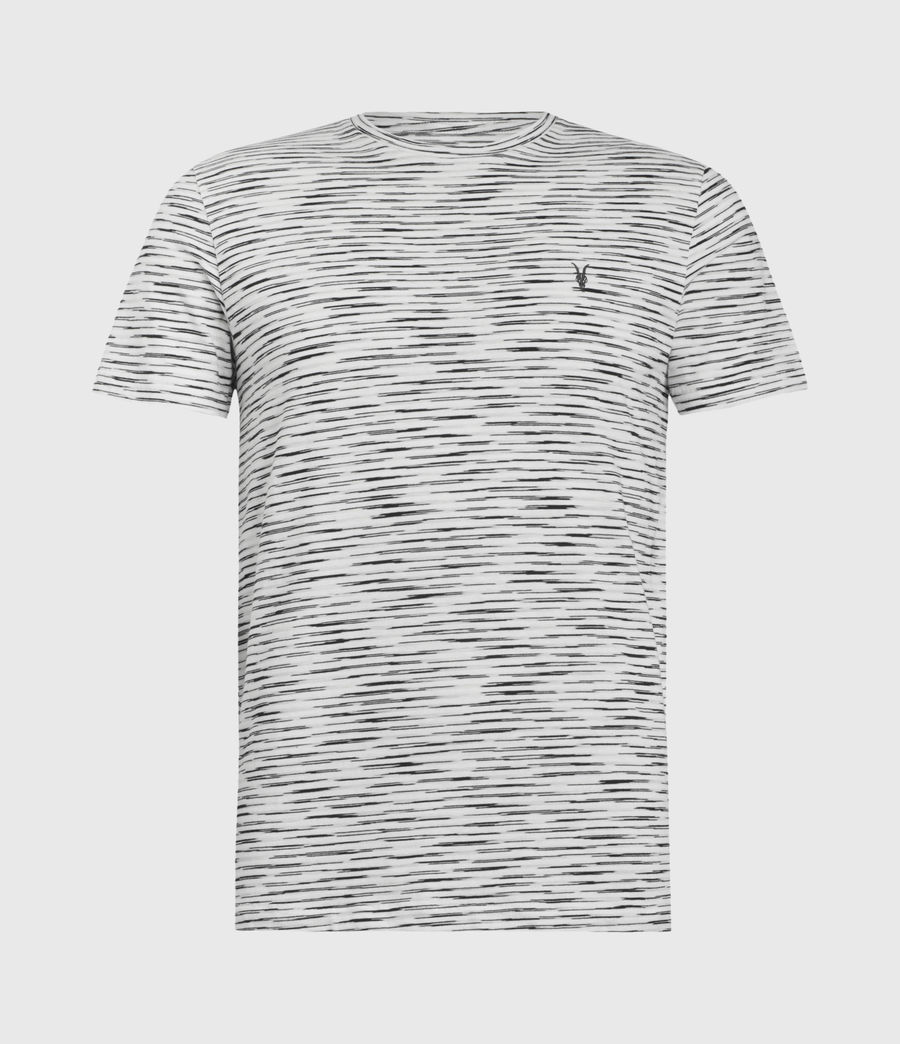 Mens Kora Crew T-Shirt (grey_mouline_chalk) - Image 2