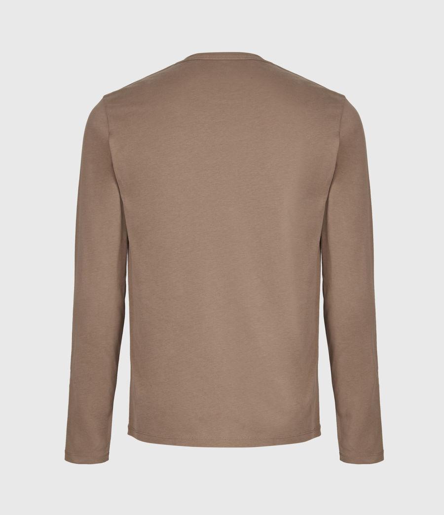 Mens Brace Long Sleeve Crew T-Shirt (dusky_brown) - Image 3