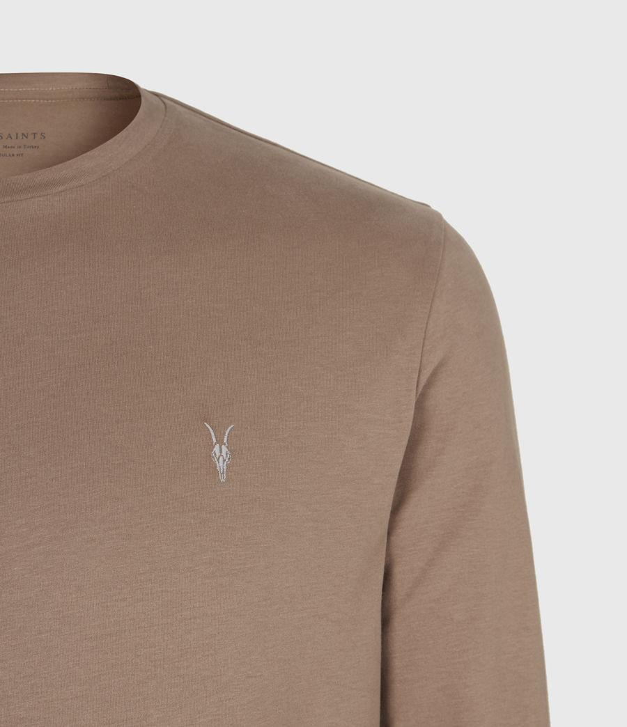 Mens Brace Long Sleeve Crew T-Shirt (dusky_brown) - Image 5