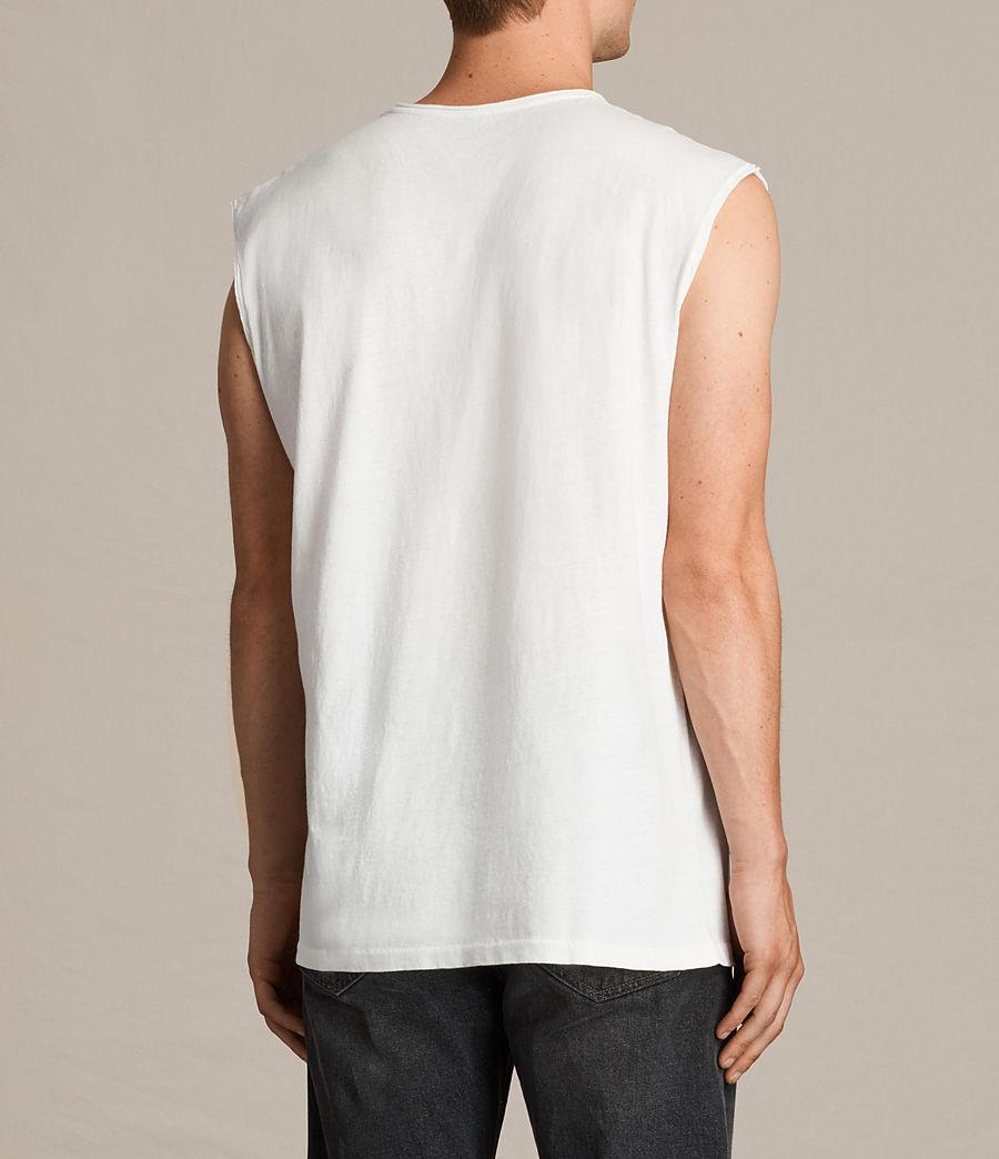 Mens Tehson Sleeveless Crew T-Shirt (chalk_white) - Image 3