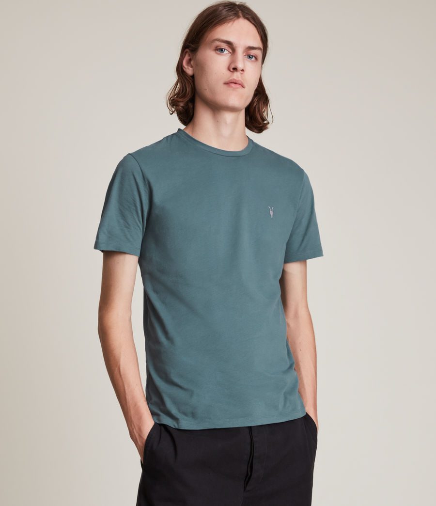 Men's Brace Contrast Crew T-Shirt (adventurer_blue) - Image 1