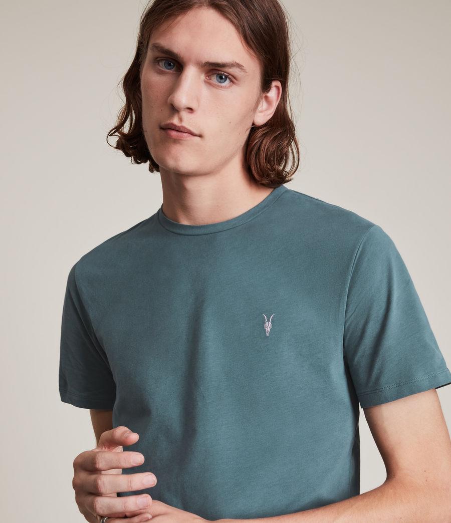 Men's Brace Contrast Crew T-Shirt (adventurer_blue) - Image 2