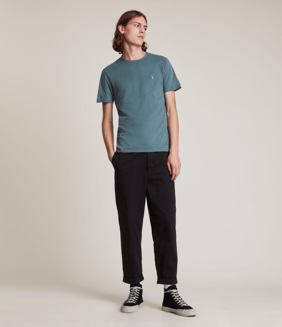Men's Brace Contrast Crew T-Shirt (adventurer_blue) - Image 3