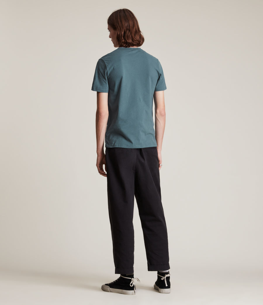 Men's Brace Contrast Crew T-Shirt (adventurer_blue) - Image 5