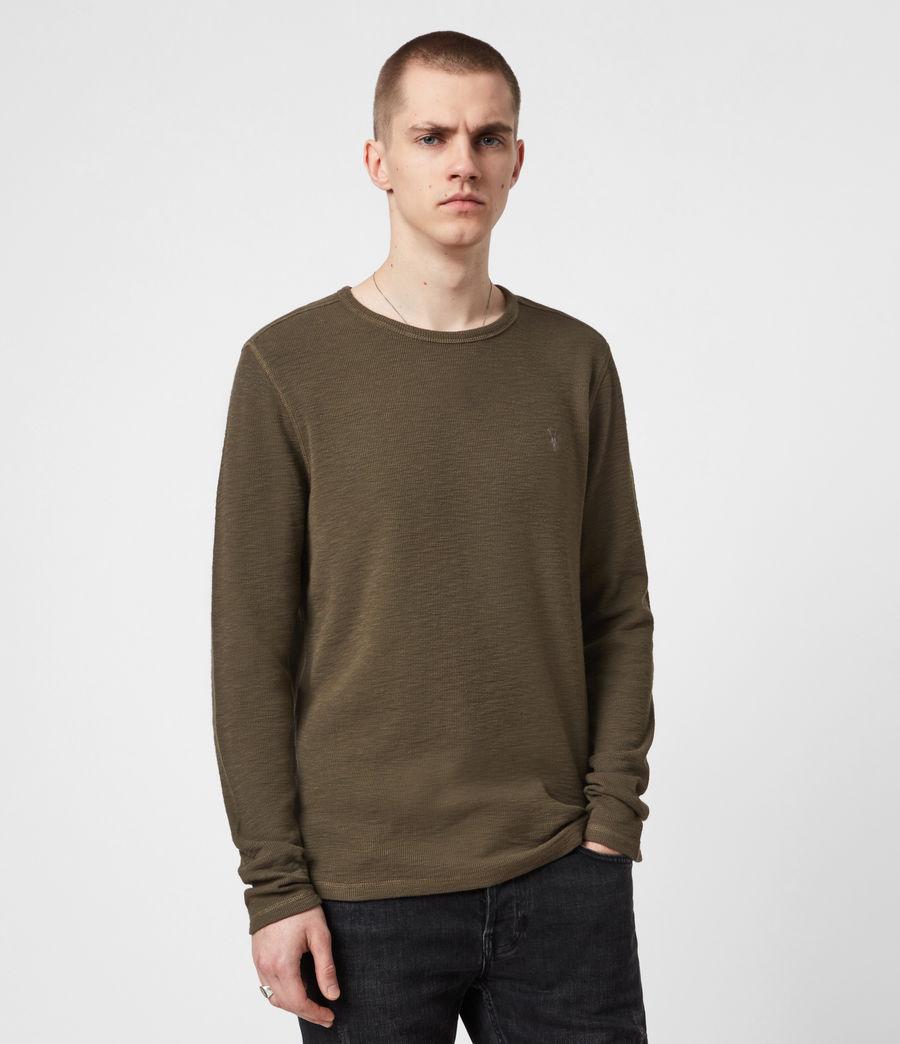 Mens Muse Long Sleeve Crew T-Shirt (balkan_green) - Image 1
