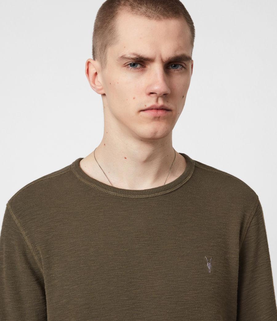 Mens Muse Long Sleeve Crew T-Shirt (balkan_green) - Image 4