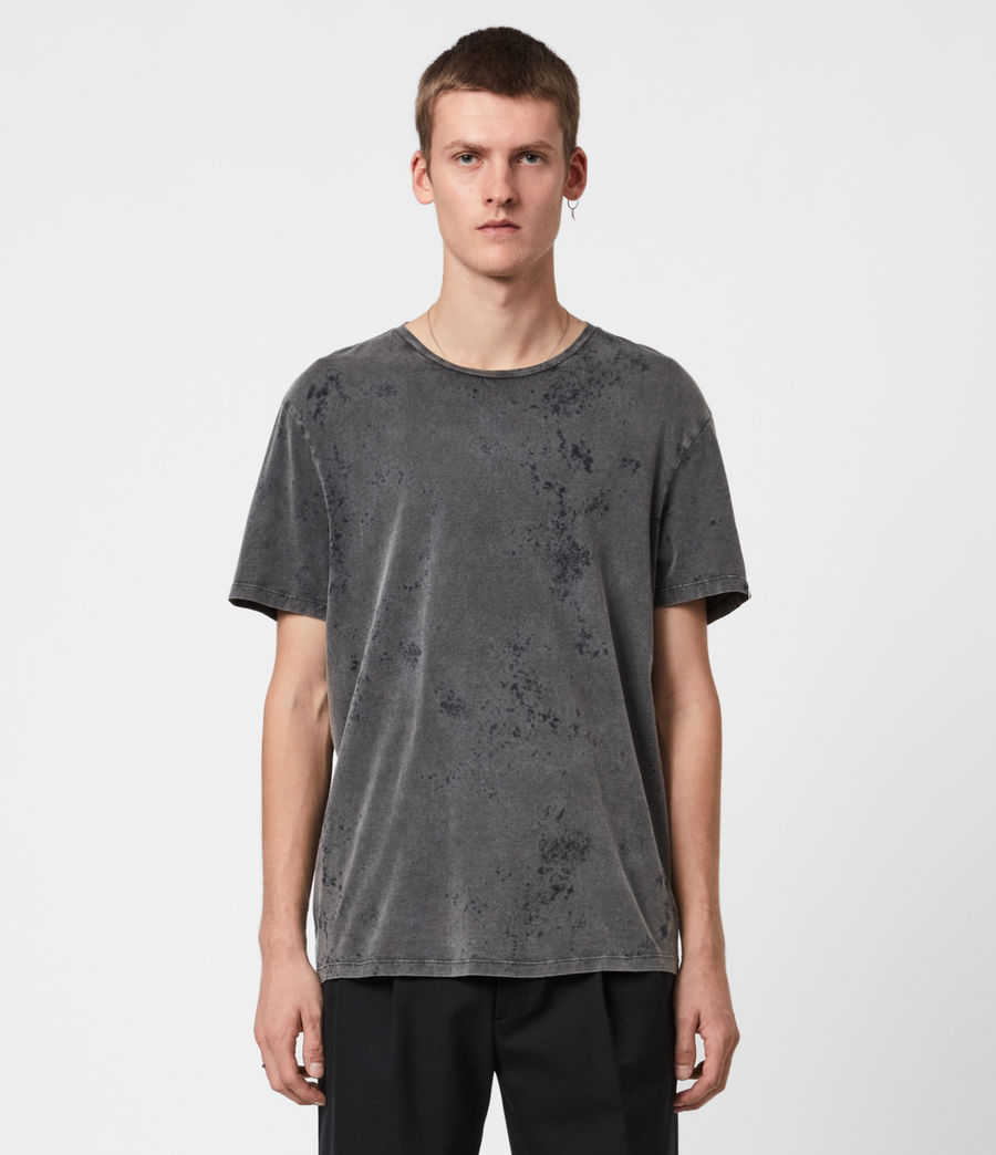 Hommes T-Shirt Wyatt (washed_black) - Image 1