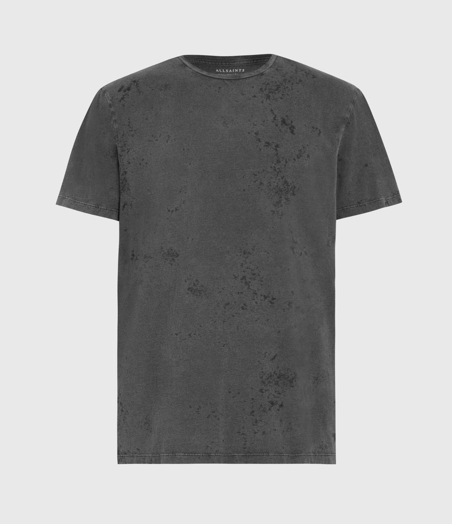 Mens Wyatt Crew T-Shirt (washed_black) - Image 2