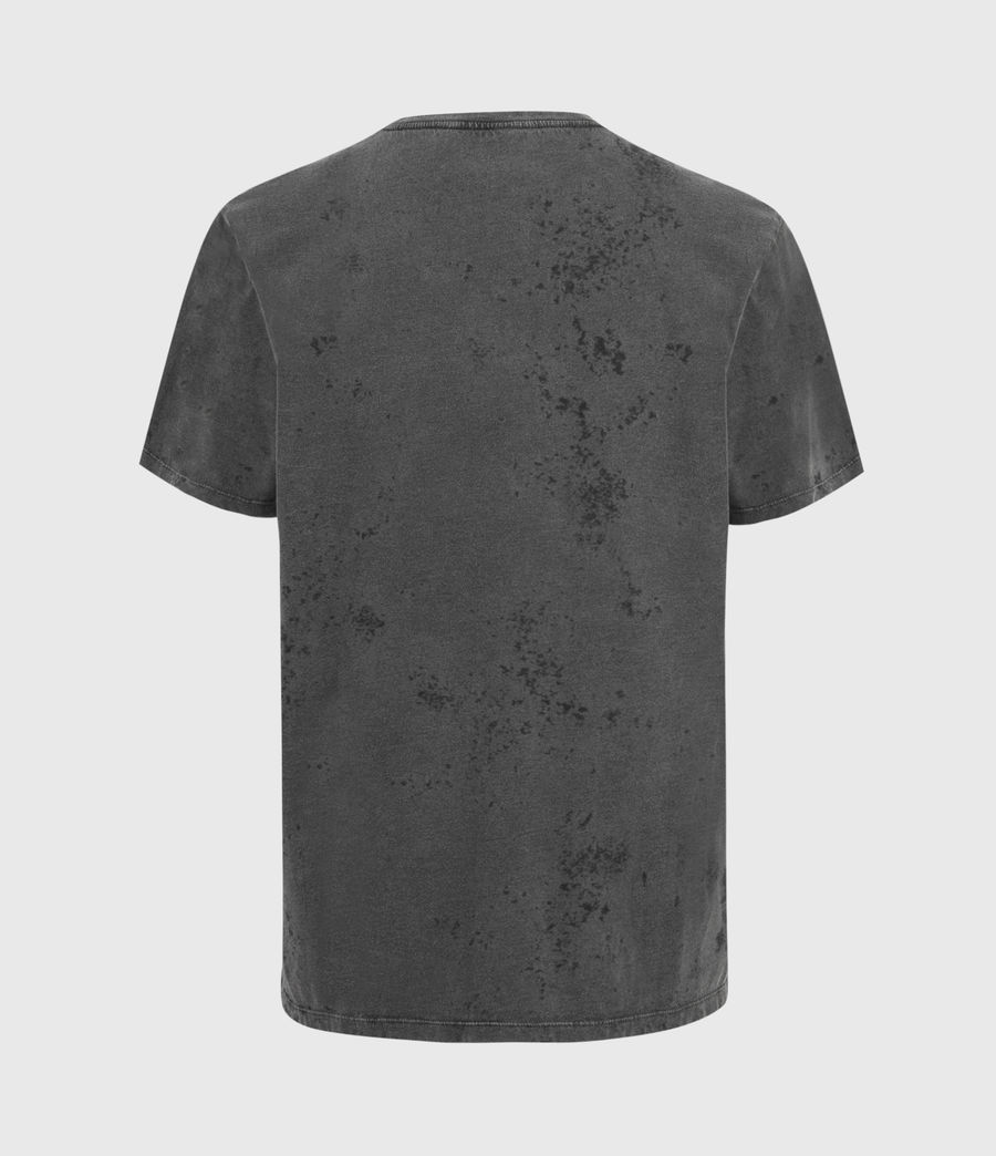 Mens Wyatt Crew T-Shirt (washed_black) - Image 3