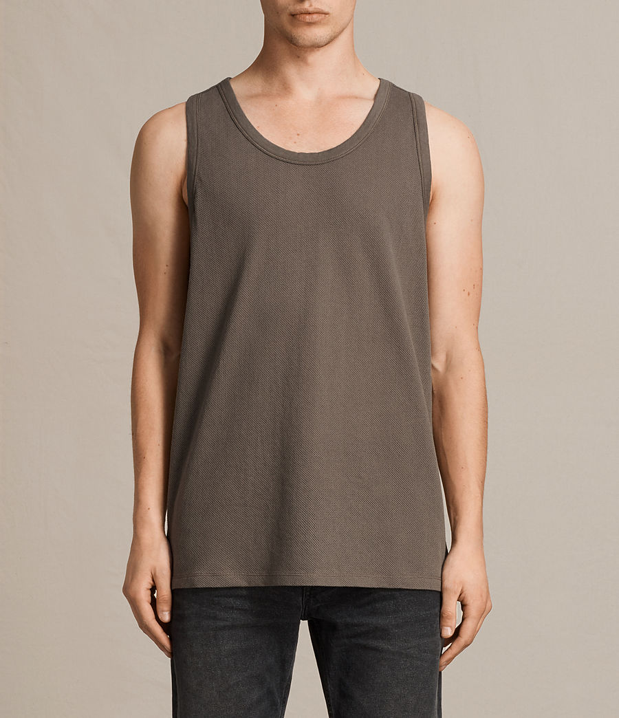 Men's Hiruma Vest (washed_khaki) - Image 1