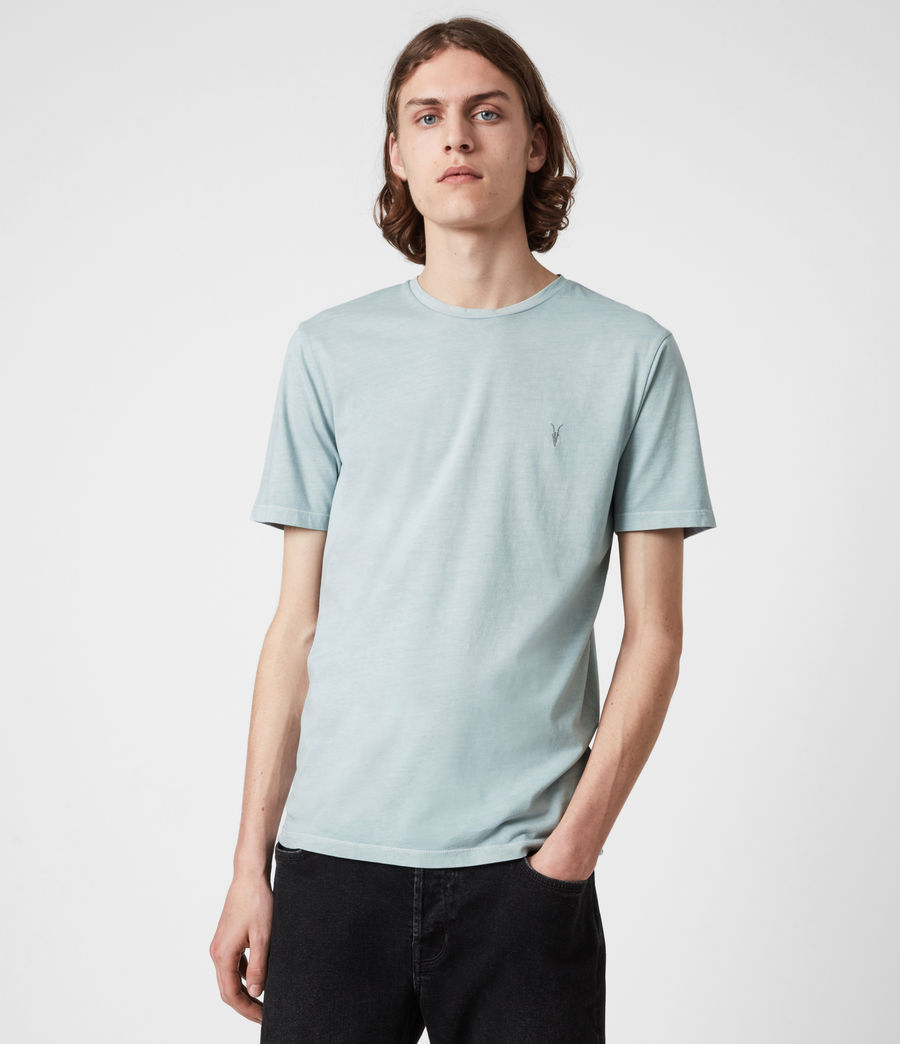 Mens Ossage Crew T-Shirt (riverbed_blue) - Image 1