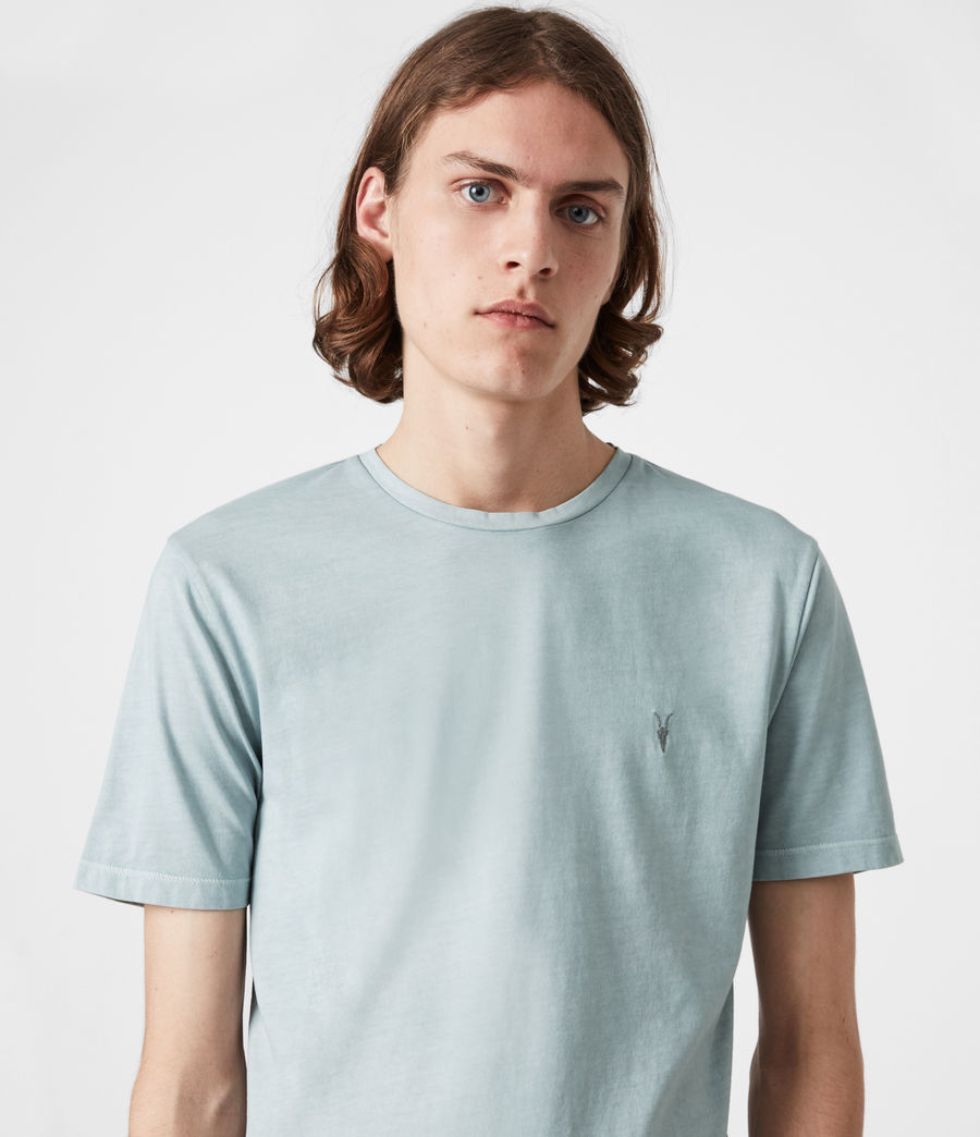 Mens Ossage Crew T-Shirt (riverbed_blue) - Image 4