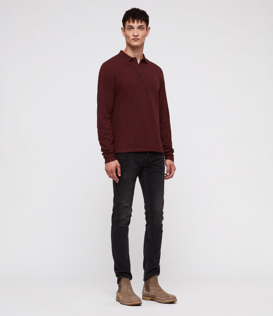 Men's Reform Polo Shirt (dark_rust) - Image 3