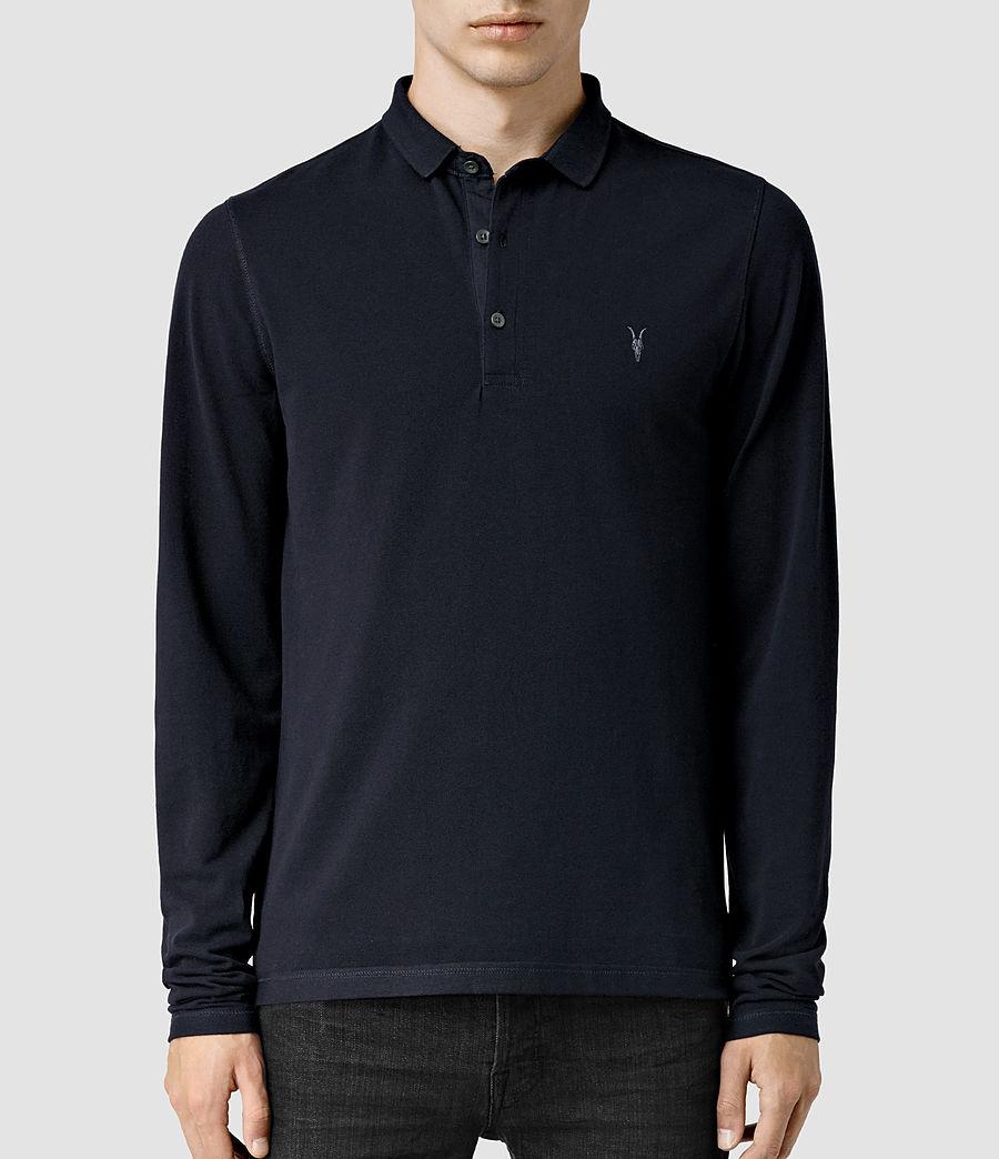 Mens Reform Long Sleeve Polo Shirt (ink) - Image 1