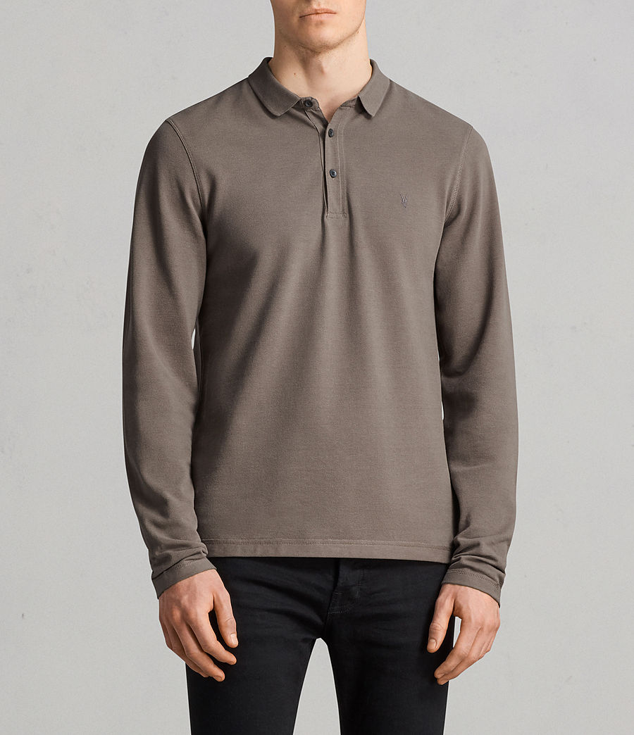 Men's Reform Long Sleeve Polo Shirt (olive_green) - Image 1