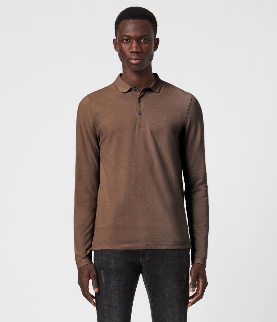 Mens Reform Long Sleeve Polo Shirt (mushroom_brown) - Image 1