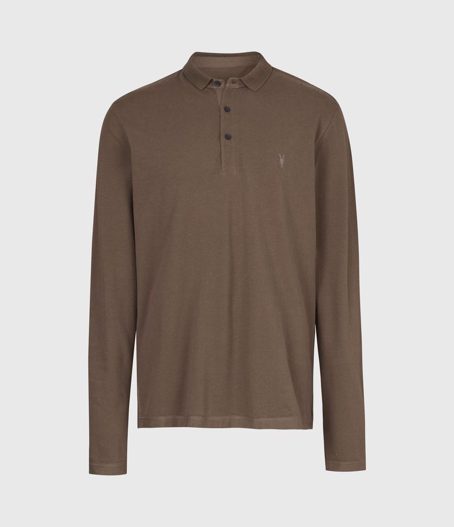 Mens Reform Long Sleeve Polo Shirt (mushroom_brown) - Image 3