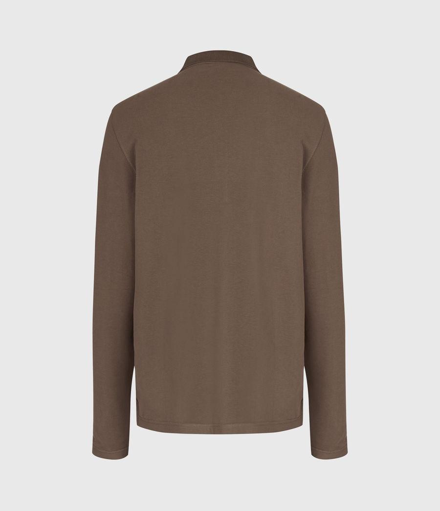 Mens Reform Long Sleeve Polo Shirt (mushroom_brown) - Image 4