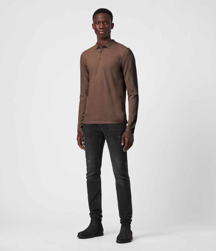 Mens Reform Long Sleeve Polo Shirt (mushroom_brown) - Image 5