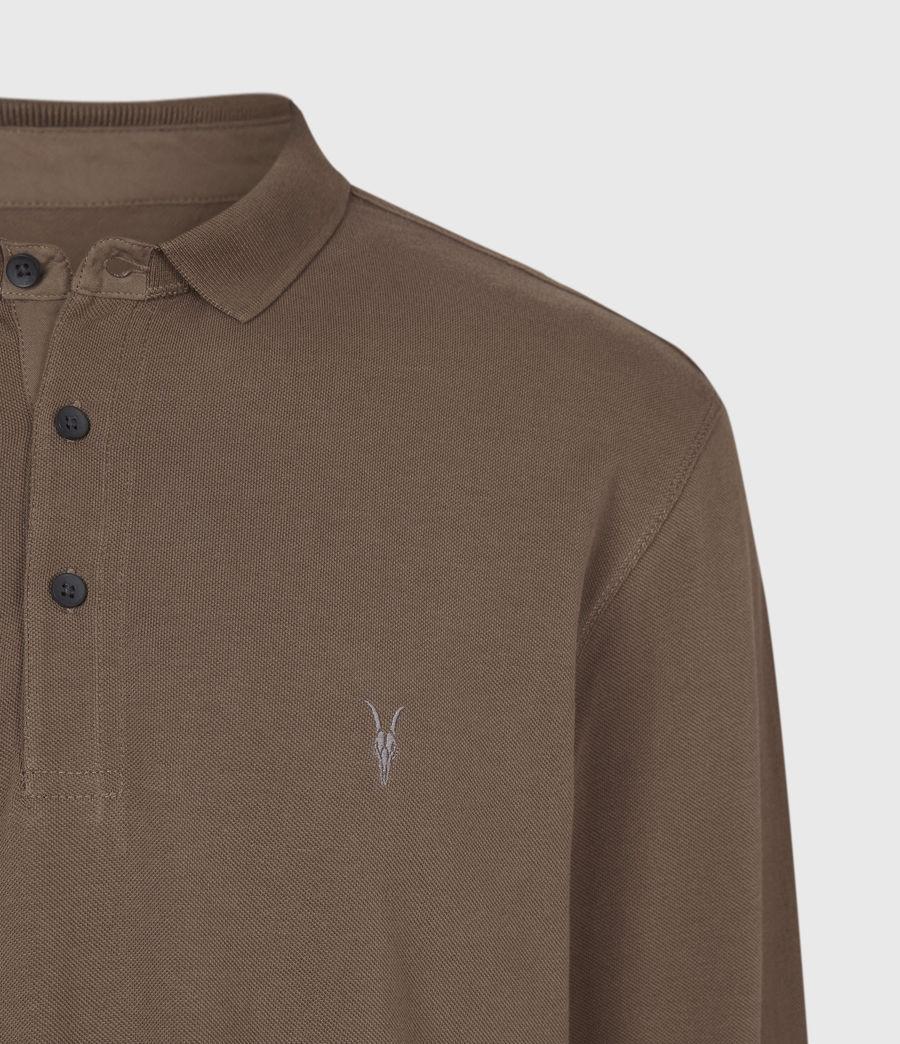Mens Reform Long Sleeve Polo Shirt (mushroom_brown) - Image 6