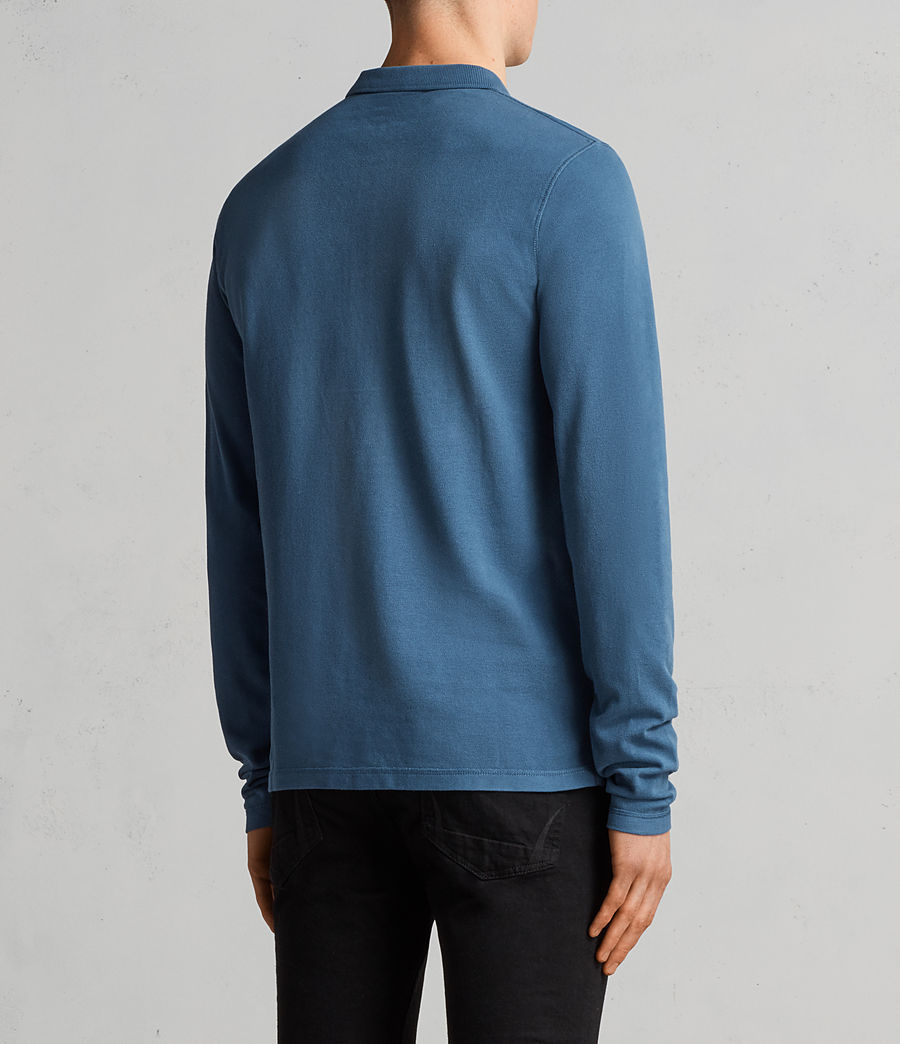 Men's Reform Long Sleeve Polo Shirt (oil_blue) - Image 4