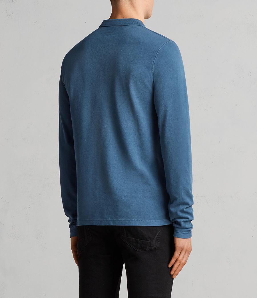 Herren Reform Langärmliges Polohemd (aqua_blue) - Image 4