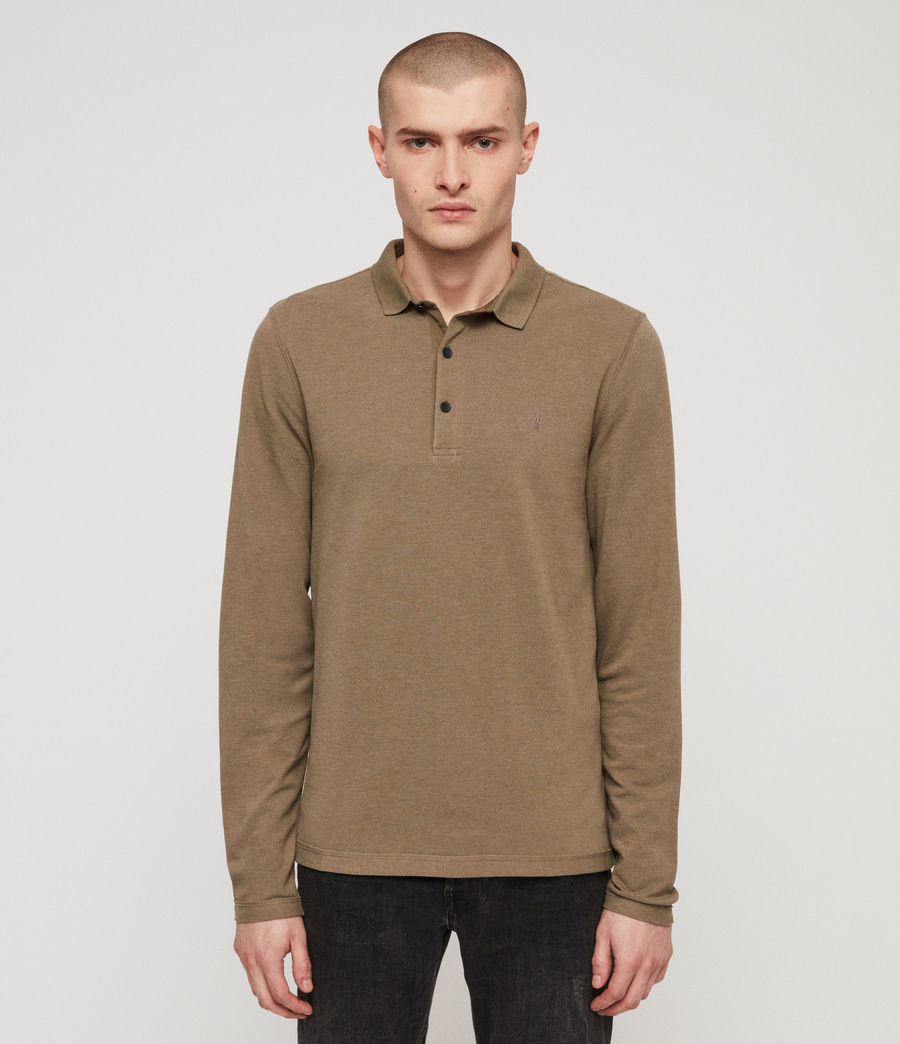 Men's Reform Polo Shirt (bark_green_marl) - Image 1