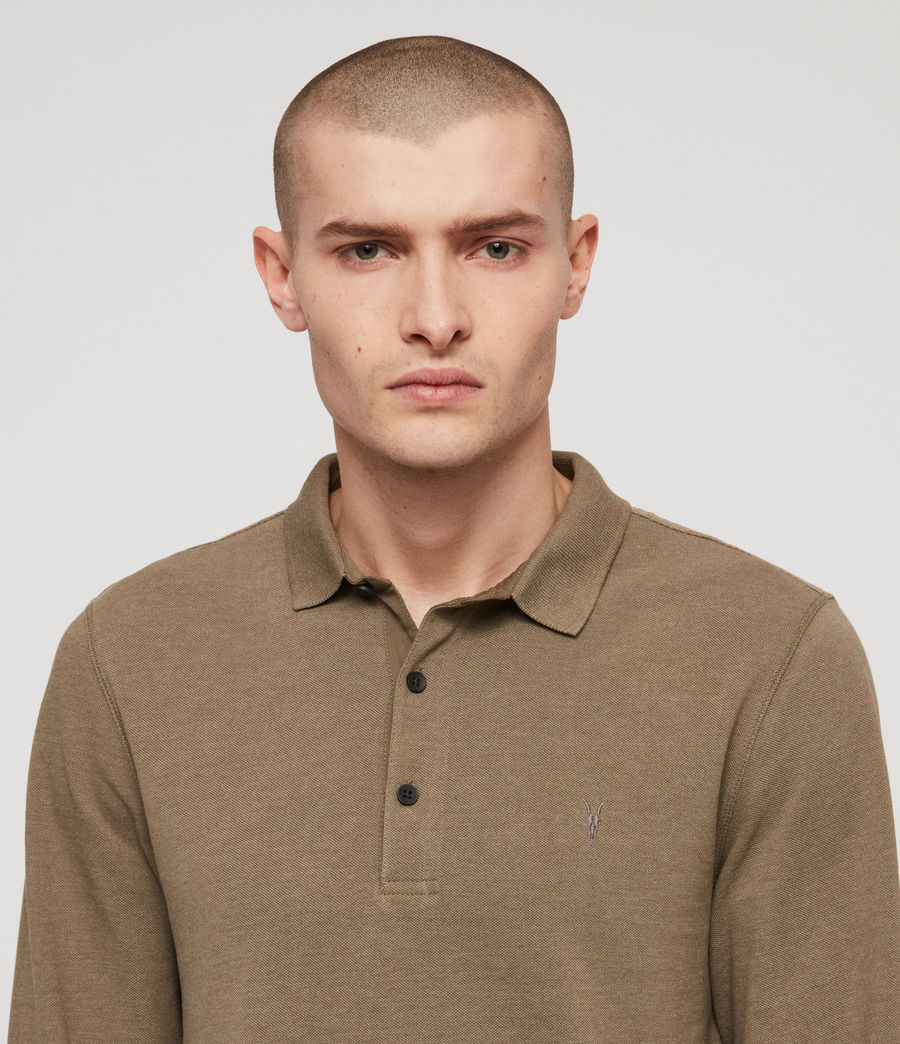 Men's Reform Polo Shirt (bark_green_marl) - Image 2