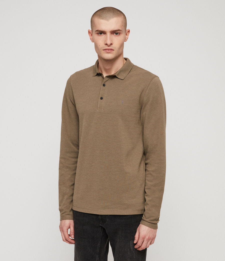 Men's Reform Polo Shirt (bark_green_marl) - Image 4