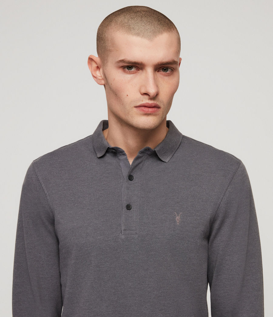 Mens Reform Polo Shirt (granite_blue_marl) - Image 2