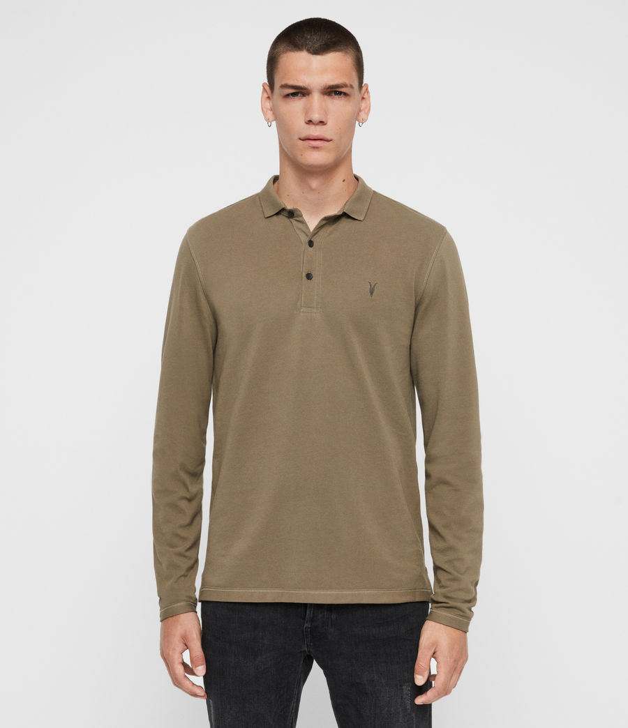 Men's Reform Long Sleeve Polo Shirt (beech_green) - Image 1
