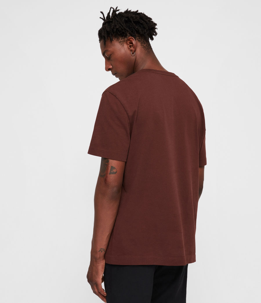 Mens Monta Crew T-Shirt (dark_rust) - Image 4