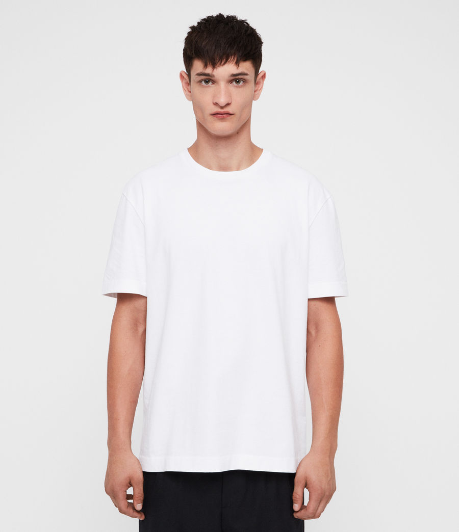 Mens Monta Crew T-Shirt (optic_white) - Image 1