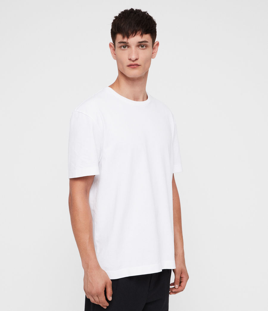 Mens Monta Crew T-Shirt (optic_white) - Image 3