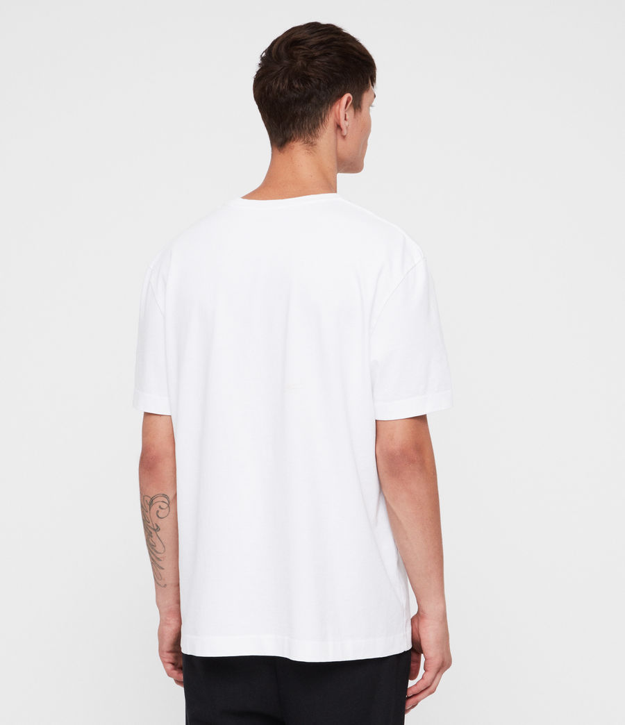 Mens Monta Crew T-Shirt (optic_white) - Image 4