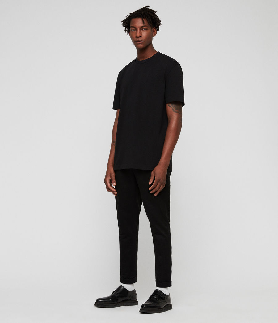 Men's Monta Crew T-Shirt (jet_black) - Image 3