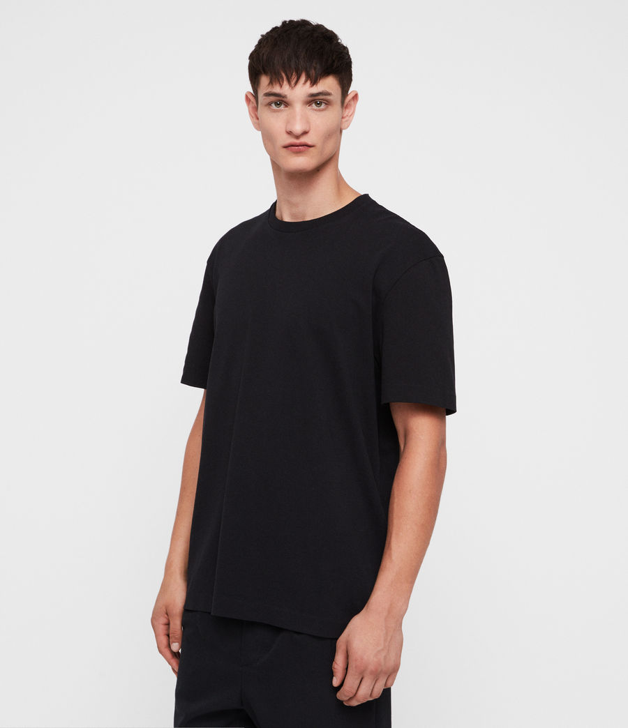 Men's Monta Crew T-Shirt (black) - Image 3