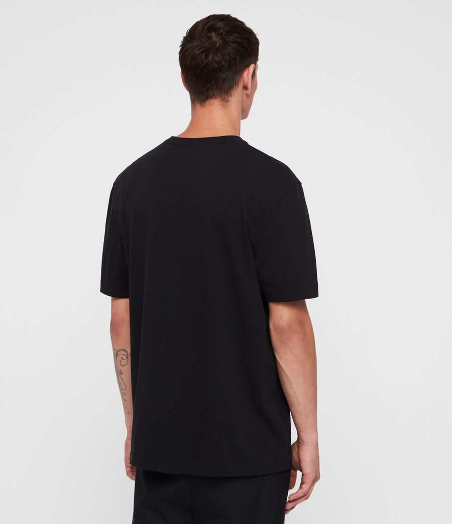 Men's Monta Crew T-Shirt (black) - Image 4