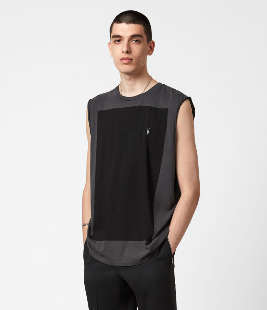 Men's Lobke Sleeveless Crew T-Shirt (washed_black) - Image 1