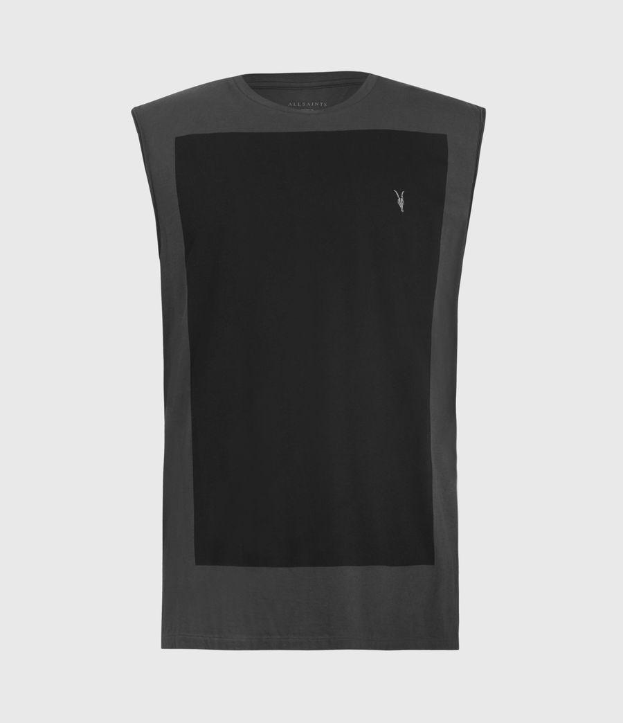 Men's Lobke Sleeveless Crew T-Shirt (washed_black) - Image 2