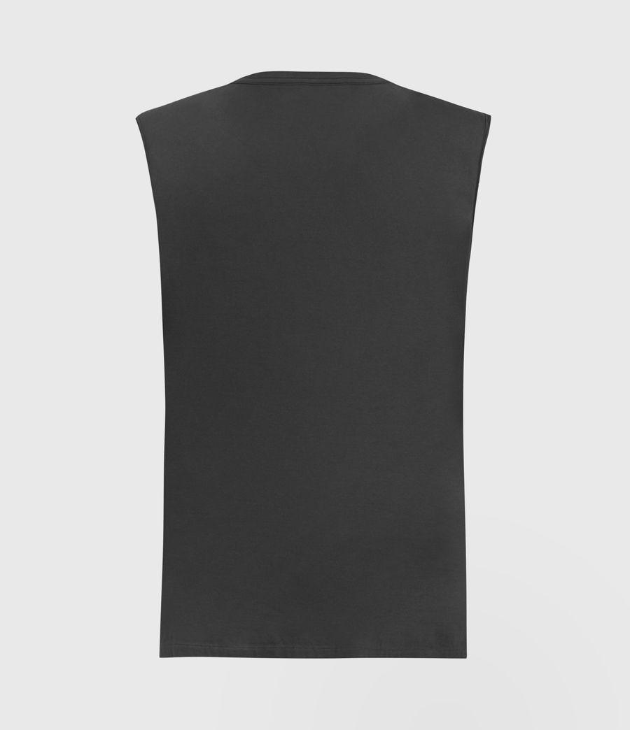 Men's Lobke Sleeveless Crew T-Shirt (washed_black) - Image 3