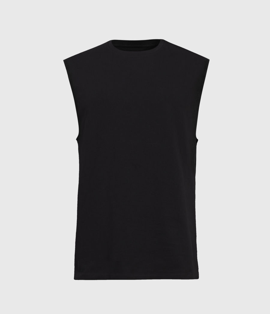 Mens Vision Sleeveless Crew T-Shirt (black) - Image 1
