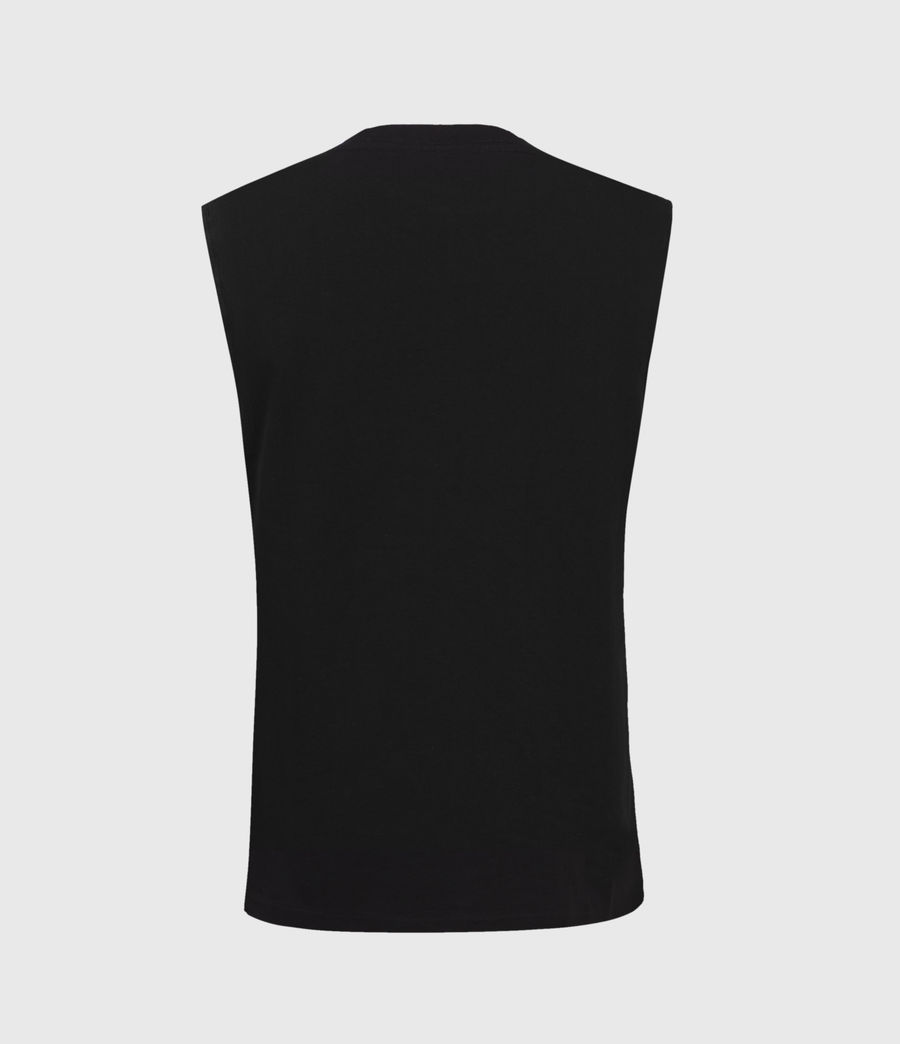 Mens Vision Sleeveless Crew T-Shirt (black) - Image 2