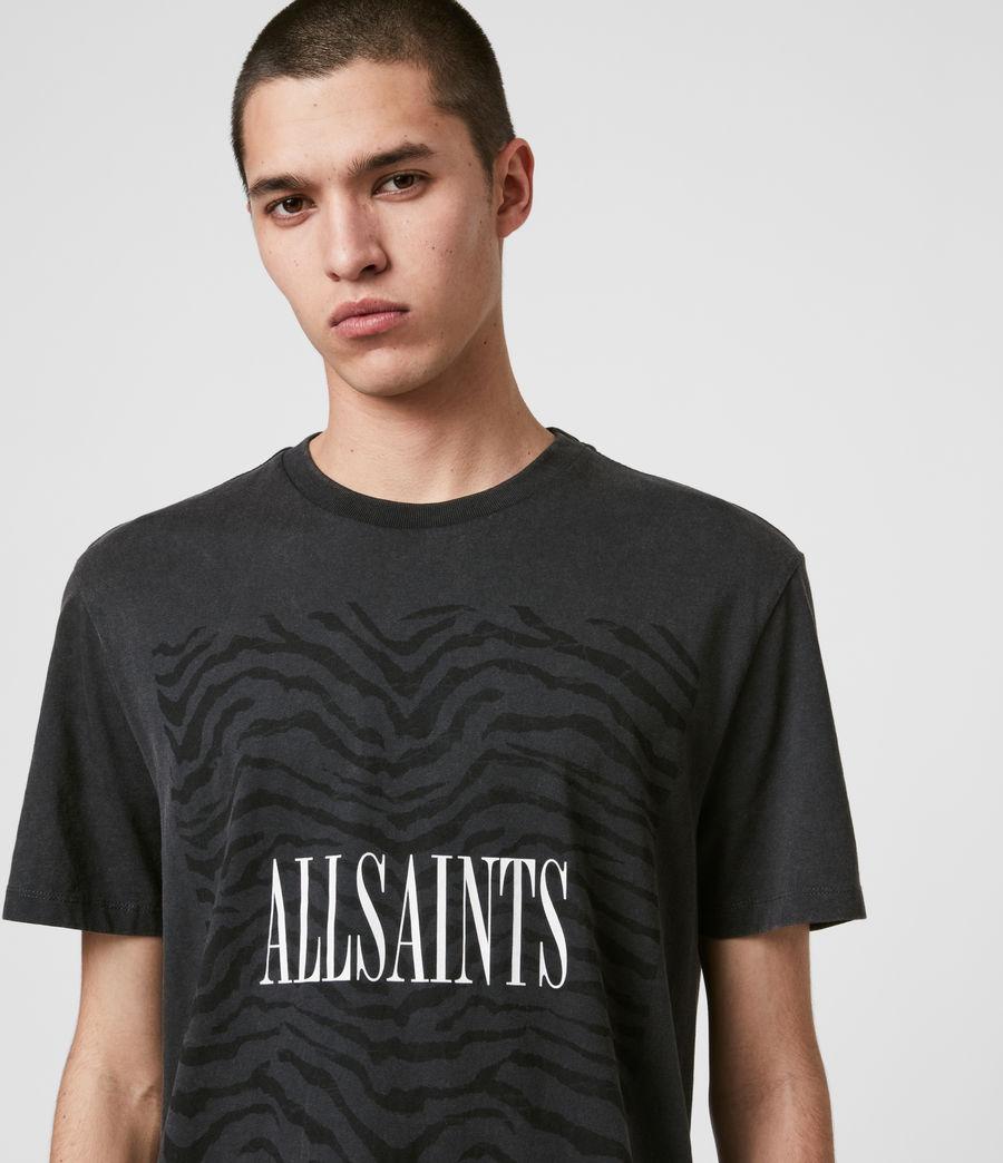 Men's Zebra Stamp Crew T-Shirt (vintage_black) - Image 2