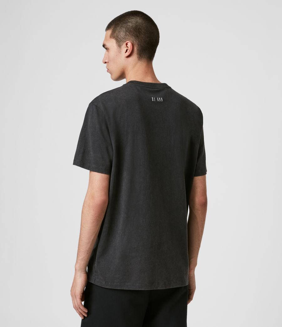 Men's Zebra Stamp Crew T-Shirt (vintage_black) - Image 5